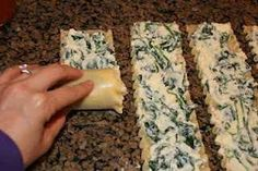 Spinach and cream cheese