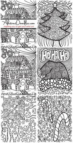 Abstract Doodles: Christmas Pages from Last Year...