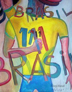 Ronaldinho cubista, pinturas de Diego Manuel