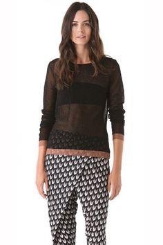 rag & bone Raelle Sheer Sweater, $255,