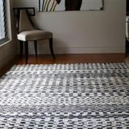 Hand Crafted Nomadic Style Rug Black And Off White Natural Jute From