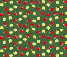 Betty Grable Apple Cart fabric by tuppencehapenny on Spoonflower - custom fabric