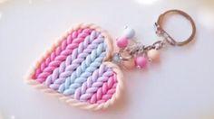 DIY Polymer Clay Heart Keychain