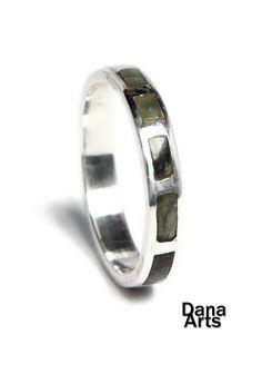 Soap stone inlay ring