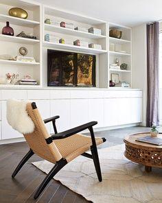 Cozy TV Room Setup Inspirations - The Urban Interior Living Room Storage, Farm House Living Room, Room Design, Home, Family Room Design, Living Room Built Ins, Living Room Diy, Home And Living, Living Room Tv