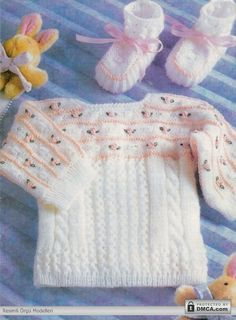 Bebek kazak patik takımları