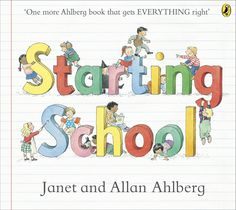 Janet and Allan Ahlberg's classic, Starting School. From first day nerves to finding your peg, this reassuring read is full of humour and fun for children and parents alike. A classic picture book which offers advice and enjo...
