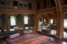 Living room in Haveli, Mandawa, Rajasthan, India