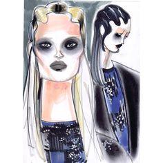 «@themarcjacobs #marcjacobs #nyfw #nyc #eyeshadow #eyeliner #show #fashion #fashionista #fashionillustration #model #makeup #glitter #highfashion #hair…»