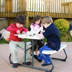 Patio Folding Picnic Kids Table 6' Camp Outdoor Table With Benches Furniture Set #PatioFoldingPicnic