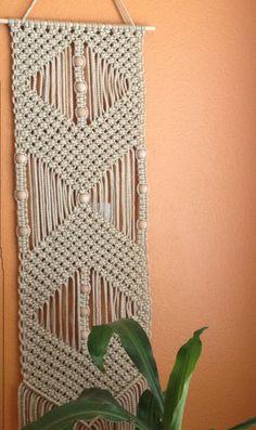 Macrame Wall Hanging, Macrame Home Decor by BiziKnitting4You on Etsy