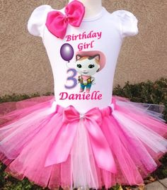 Sheriff Callie Birthday Tshirt Personalized with Name and Age with Option to add on Detachable Shoulder Bow and Tutu with Detachable Sash Bow