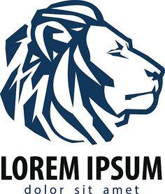 Leone vector logo modello icona