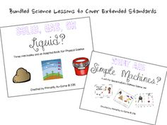 Special Education Science Bundle! (Extended Standard Units) | TpT