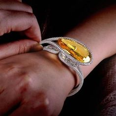 Yellow sapphire and diamond bracelet, by Forms Jewellery