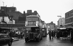 Woolwich in 1978 Vintage London, Old London, Bexley Village, London History, Double Decker Bus, London Bus, London Transport, South London, Vintage Photographs