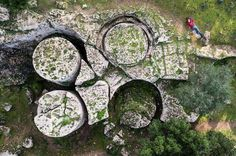 Unfinished megalithic columns. Cave di Cusa, Sicily, Italy