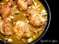 Pollo Chicken, Roasted Chicken, Supper Recipes, Healthy Dinner Recipes, Pollo Guisado, Sliced Turkey, Evening Meals, Nutritious Meals, Food Videos