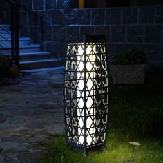 The Best Solar Lights To Illuminate Your Patio + Buying Guide Best Outdoor Solar Lights, Solar Patio Lights, Patio Lighting, Wicker Floor Lamp, Outdoor Floor Lamps, Outdoor Flooring, Cordless Lamps