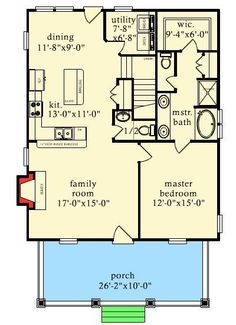 1300+ sq ft with awesome master suite!! This has a terrific layout!! Just needs a foyer/arctic entry. Rustic Escape With Bunk Room - 9744AL   Cottage, Country, Mountain, Vacation, Narrow Lot, 1st Floor Master Suite, CAD Available, PDF   Architectural Designs