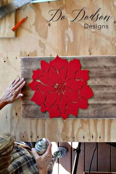 Country Crafts Christmas Stencil Hack - Holiday decor by Do Dodson Designs #stencil #diyprojects