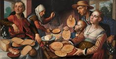 The Pancake Bakery, Pieter Aertsen, 1560.  Nice to know that they had their own version of IHOP back in Tudor times!!!