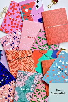 Business Booster Competition – Winners Revealed Specialising in bold, bright designs and tongue in cheek messages, The Completist launched earlier this year and is already expanding from cards into gift wrap and other printed goods. Web Design, Book Design, Layout Design, Design Art, Print Design, Cover Design, Packaging Design, Branding Design, Corporate Branding