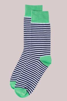 Navy Striped Socks