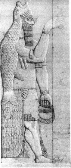 "http://globedia.com/dioses-filisteos-dagon earliest depictions of the ""purse-shen ring"" in Sumerian/Akkadian murals"