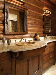 Rustic bathroom vanity design