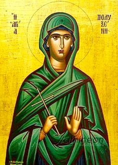 The sister of Saint Xanthippe, Saint Polyxene (1st cent Spain) was kidnapped and taken to Greece by a man entranced with her beauty. On the way she heard Holy Apostle Paul preach -- consequently, she sought the Christian community in Greece and was baptized by Holy Apostle Andrew. After witnessing his trials and martyrdom, she returned to Spain and, for 40 years, converted pagans with her sister. (Sept 23)