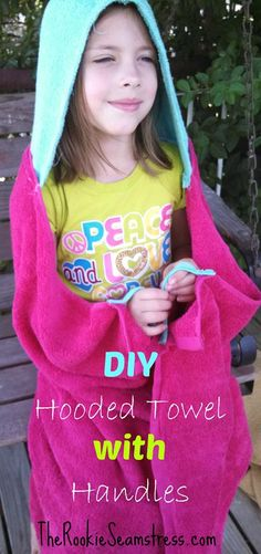 DIY Hooded Towels with Handles!