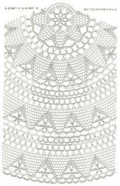 Crochet Tablecloth Pattern, Free Crochet Doily Patterns, Crochet Doily Diagram, Filet Crochet Charts, Crochet Mandala, Crochet Motif, Crochet Designs, Crochet Doilies, Crochet Stitches