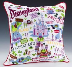 disneyland pillow...I may end up having a disney themed basement one day...