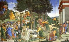 The Athenaeum - The Trials and Calling of Moses (Sandro Botticelli - )