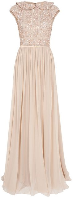Elie Saab Beaded Top Silk Gown - Beautiful.