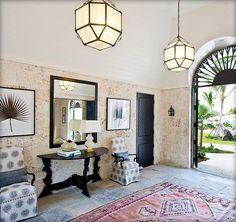 Gorgeous Island Style | Design by Allison Elebash| featuring Morris Hanging Lantern by Alexa Hampton