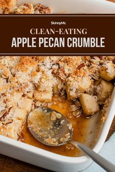 Our delectable clean-eating apple pecan crumble is made with natural ingredients that will satisfy your soul with warm and comforting flavors! Clean Eating Slow Cooker Recipe, Slow Cooker Recipes, Clean Eating Recipes, Clean Eating Snacks, Clean Eating Dinner, Dinner Entrees, Healthy Eating Habits, Entree Recipes, Pecan