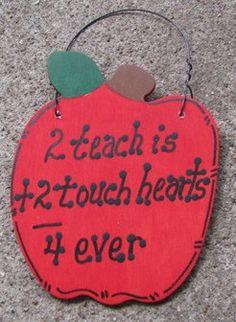 Teacher Gifts A9500 2 Teach is 2 Touch Hearts, $2.50