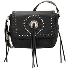 Bandana by American West Sioux Crossbody Bag Black Faux Leather Flap Fringe Handbags, Purses And Handbags, American West Handbags, Western Purses, Black Cross Body Bag, Sioux, Black Faux Leather, Fashion Handbags, Leather Purses