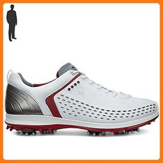 low priced e3b23 c093c ECCO Mens Biom G2 White Brick Leather Synthetic Golf Shoe 13-13.5 UK
