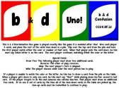 b and d Confusion/Reversal Uno Game product from A-Turn-to-Learn on TeachersNotebook.com