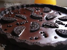 Oreo tarte Pie Crumble, Balanced Diet, Chocolate, Feta, Panna Cotta, Sweet Tooth, Muffin, Food And Drink, Pudding