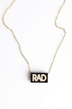 Rad necklace, Neivz, 80spurple.com, $40