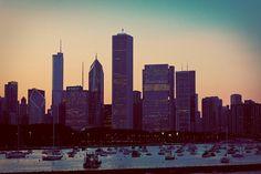 Faded Chicago Skyline