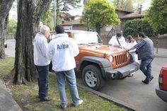 Arba retuvo auto de lujo en San Isidro que nunca había pagado patente y su propietario regularizó deuda en el acto