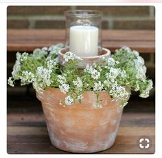 Night Patio Ideas Create a warm and soft ambiance with this Flower Pot Centerpiece. More Backyard Ideas on Frugal Coupon Living.Create a warm and soft ambiance with this Flower Pot Centerpiece. More Backyard Ideas on Frugal Coupon Living. Flower Pot Centerpiece, Diy Centerpieces, Potted Plant Centerpieces, Outdoor Table Centerpieces, Flower Arrangement, Hurricane Centerpiece, Floral Arrangements, Kitchen Centerpiece, Flower Table
