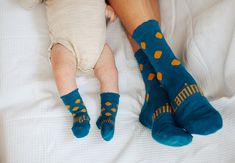 Merino Wool knee high + crew length socks, made in New Zealand. Stay up and stay on. Adult sizes for Woman and Men, some styles have matching kids sizes. Teal with mustard spot. Merino Wool Socks, Fashion Socks, Teal, Mustard, How To Make, Kids, Collection, Woman, Gold