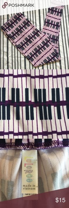 Lularoe TC Piano Keys Leggings purple unicorn Sale is one pair of Lularoe brand size TC Tall & Curvy leggings in a fun piano key print. From a non-smoking, pet friendly home. Thanks for looking! LuLaRoe Pants Leggings