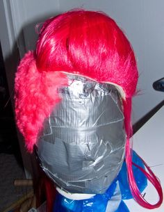 WARPAINT and Unicorns: Fake Buzz Cut Hair, Faux Fur Dying, Taming Clip on Ponytails, and Mohawk - Wig Tutorial